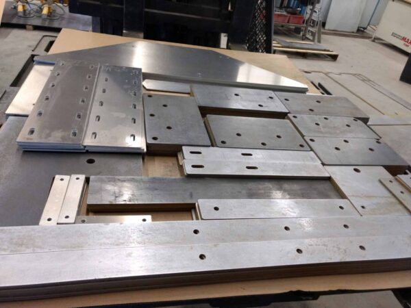 Skid Of Parts for waterjet cutting