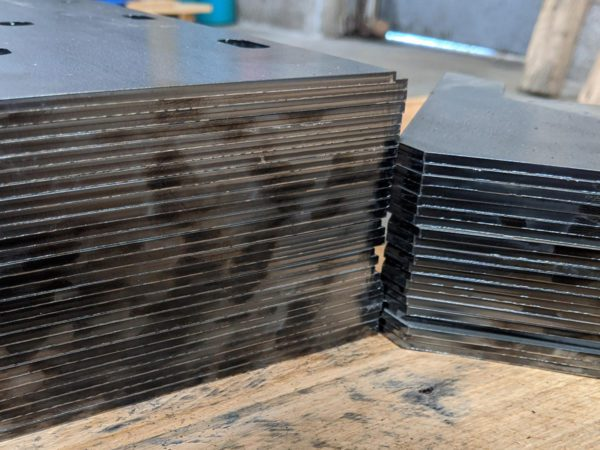 stacked laser parts